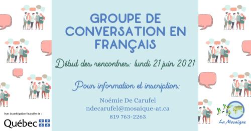 Groupe de conversation en français